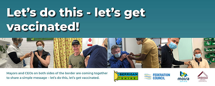 """A  web banner saying """"Let's get Vaccinated"""""""