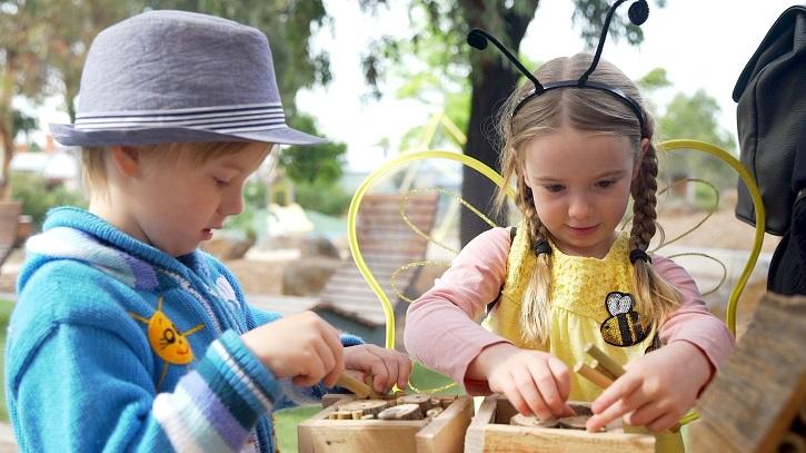 Children doing bee-related activities