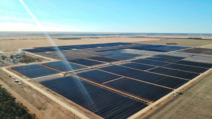 Large-scale solar farm