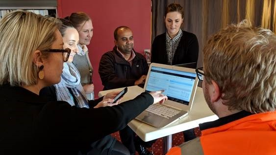 Staff being trained on Google Chrome